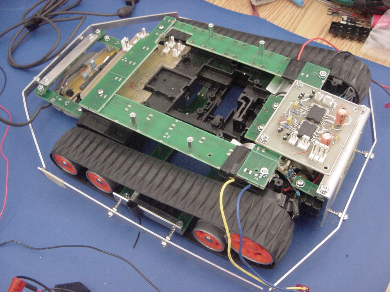Robot Pictures4 Optical Mouse Circuit Board Picture Is The Microsoft Notice Beneath H Bridge Pcb There A Plate To Keep Gears In Place Original R C Car This Was Done By